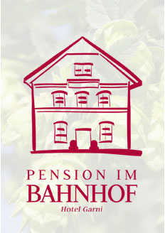 Logo, Pension im Bahnhof, Mainburg